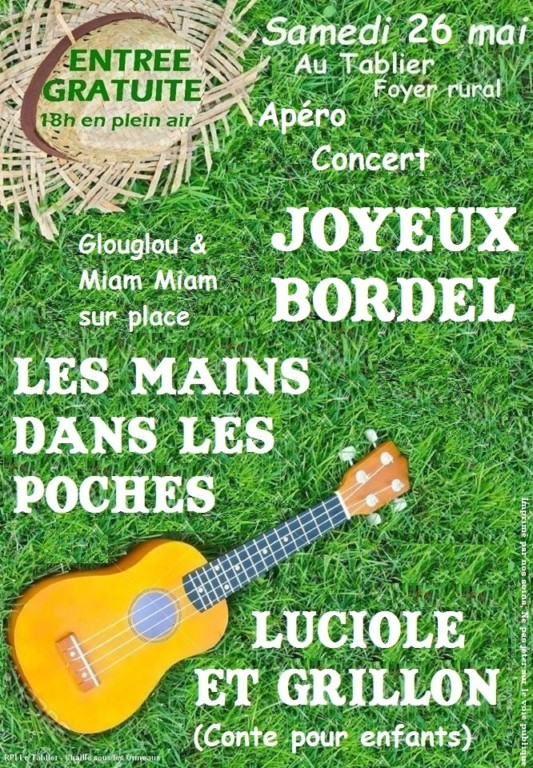 Concert @ Foyer rural - Le Tablier